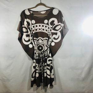 CIEL brown & white Dress Size: Small
